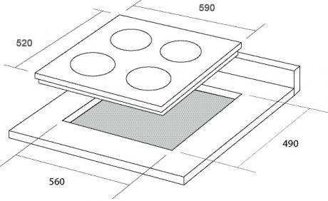 Варочная поверхность BORGIO 6270 (WHITE GLASS)