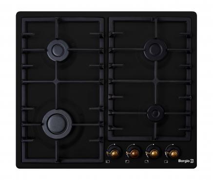 Варочная поверхность газовая BORGIO 6940-15 (Black Rustic)