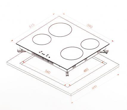 Электрическая варочная поверхность из стеклокерамики Borgio VC640 Black