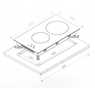 Электрическая варочная поверхность из стеклокерамики Borgio VC320 Black
